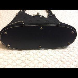 Dooney & Bourke Bags - DOONEY & BOURKE Black Canvas Shoulder Bag
